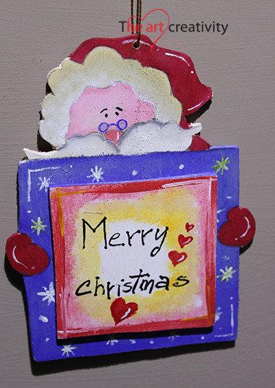 """Addobbo  """"Babbo Natale con scritta"""""""