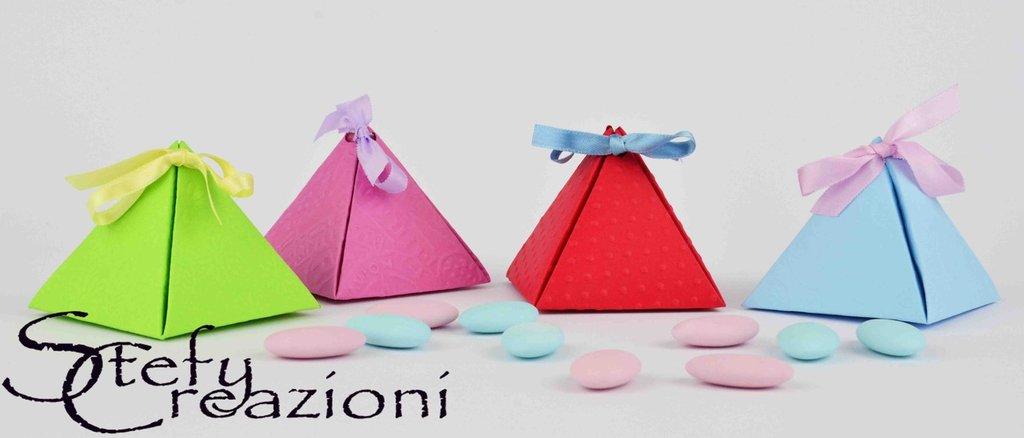 Estremamente Scatoline Portaconfetti Piramide - Feste - Bomboniere - di Stefy  UP52