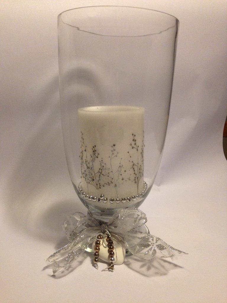 COMPOSIZIONE NATALIZIA, con candela, idea regalo