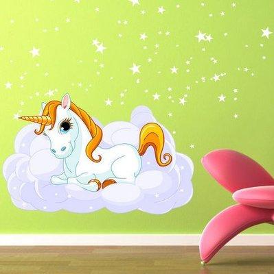 Unicorn / Unicorno (2474f) Adesivi per Camerette