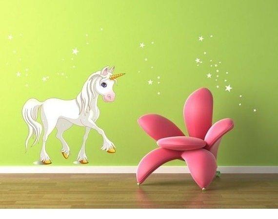 Unicorn / Unicorno (2510f) Adesivi per Camerette