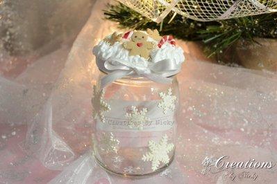 Barattolo con decorazioni di Natale