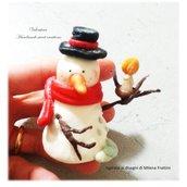 Segnaposto Pupazzo di neve con candela- decorazione natale