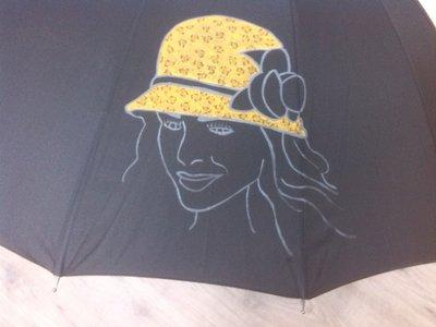 ombrello dipinto a mano,modello NOA