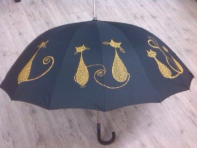 """ombrello dipinto a mano,modello """"gatos"""""""