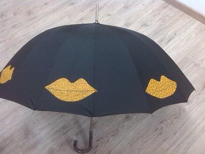 """ombrello dipinto a mano,modello """"besos"""""""
