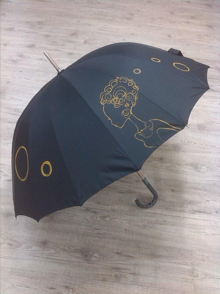 """ombrello dipinto a mano,modello """"rizos"""""""