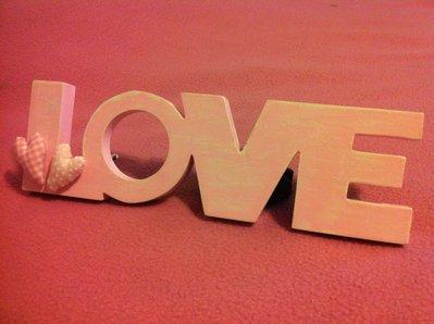Cornice shabby LOVE rosa