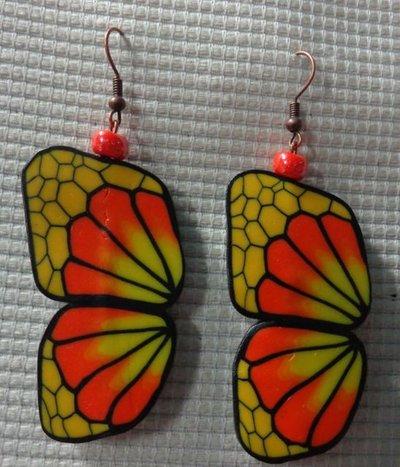 Orecchini Ali di Farfalla Fluo