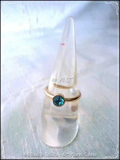Anello con cristallo: MALVA - BLU - BIANCO