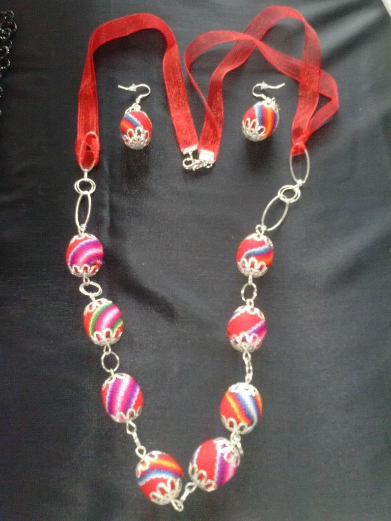Parure gioielli con perle sudamericane