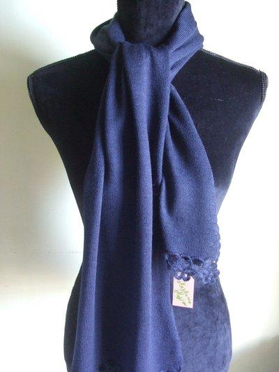 sciarpa leggera lana maglia bimba