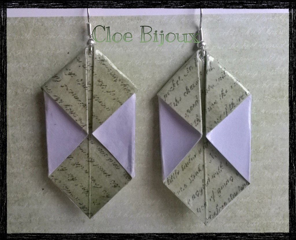 "Orecchini origami ""Iku"" verde"