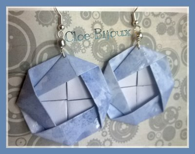 "Orecchini origami ""Minako"" azzurro"