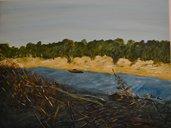 """Dipinto a mano """"Giù per il fiume"""""""