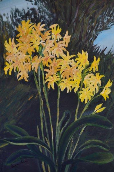 """Dipinto a mano """"Fiori gialli"""""""