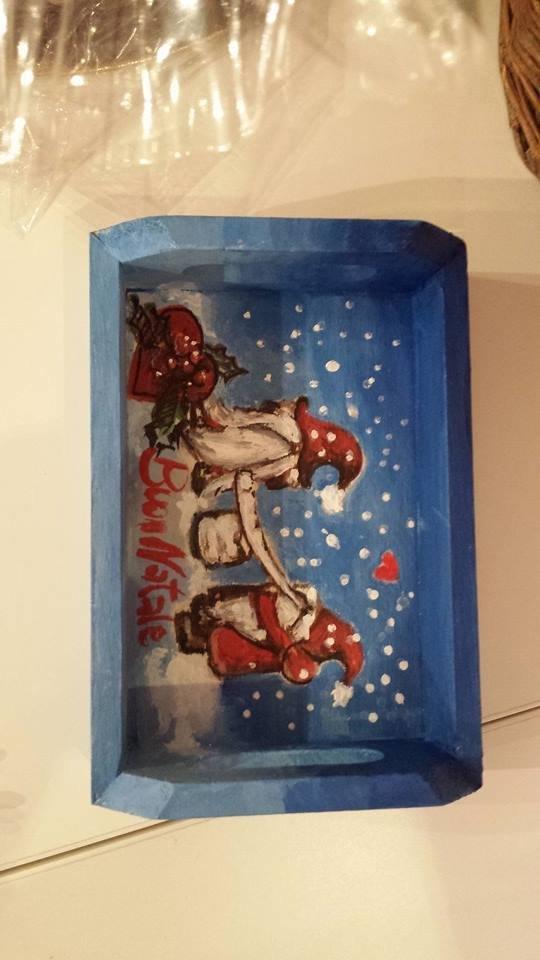 vassoietto in legno  natalizio