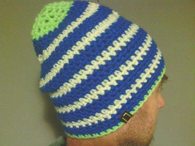 _cappello  uomo, donna in lana, fatto a mano all'uncinetto C093