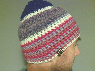 Cappelo in lana, uomo donna, fatto a mano all'uncinetto C091