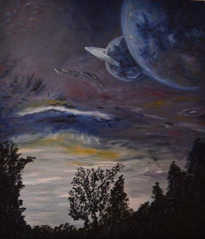 """Dipinto a mano """"L'universo"""""""