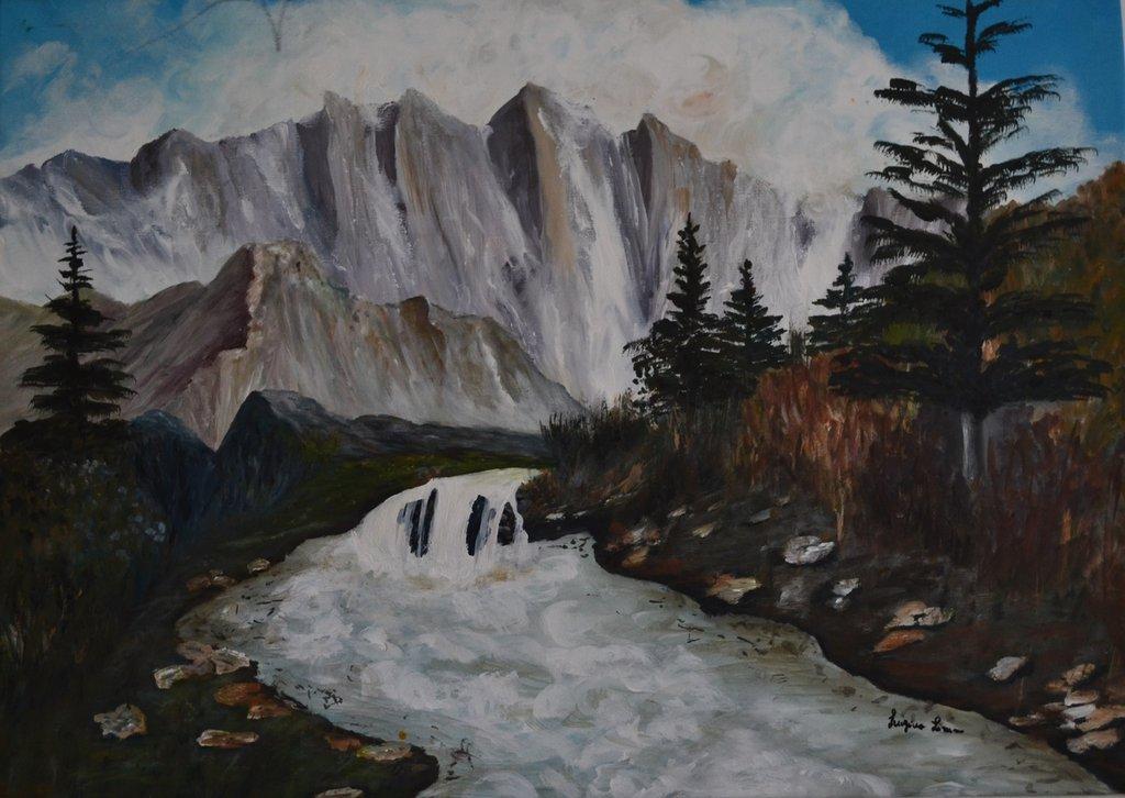 """Dipinto a mano """"La vera montagna"""""""