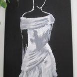 """Quadro """" Donna in bianco """""""