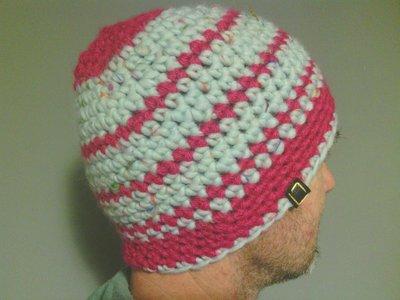 Cappelo in lana, uomo donna, fatto a mano all'uncinetto C089