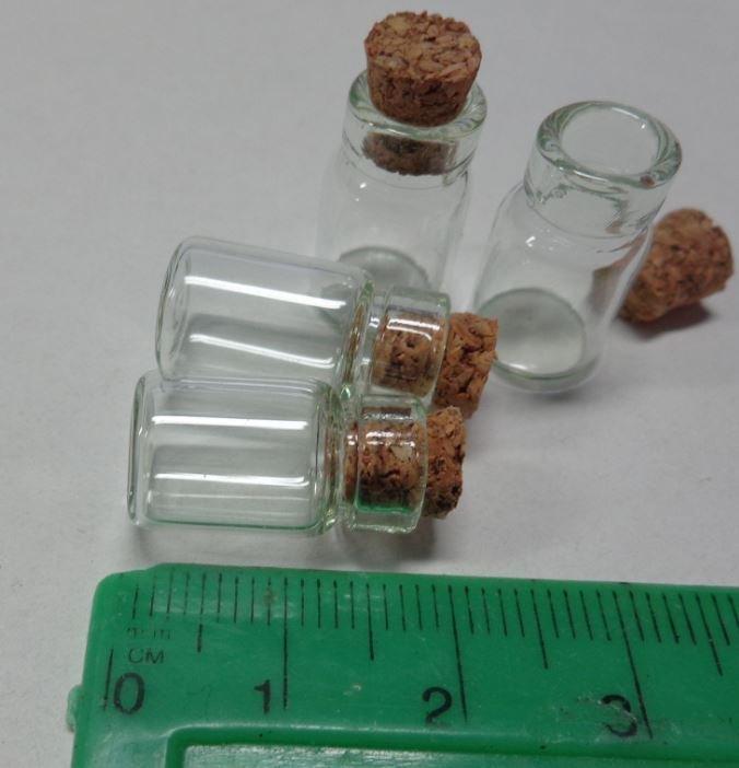 3 SUPER MINI Bottigliette Vetro