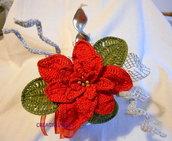 Vasetto Stella di Natale con candela fatta a mano