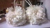 addobbi natalizi le palline di lana e cotone