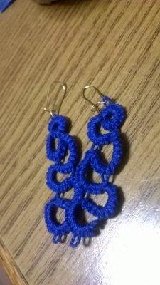 orecchini blu chiacchierino