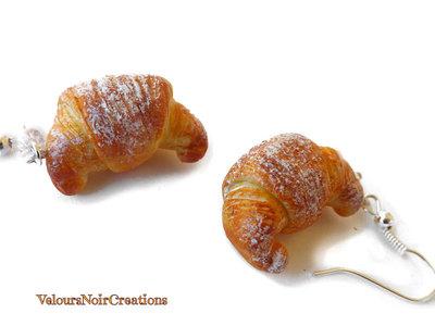 orecchini cornetto croissant in fimo