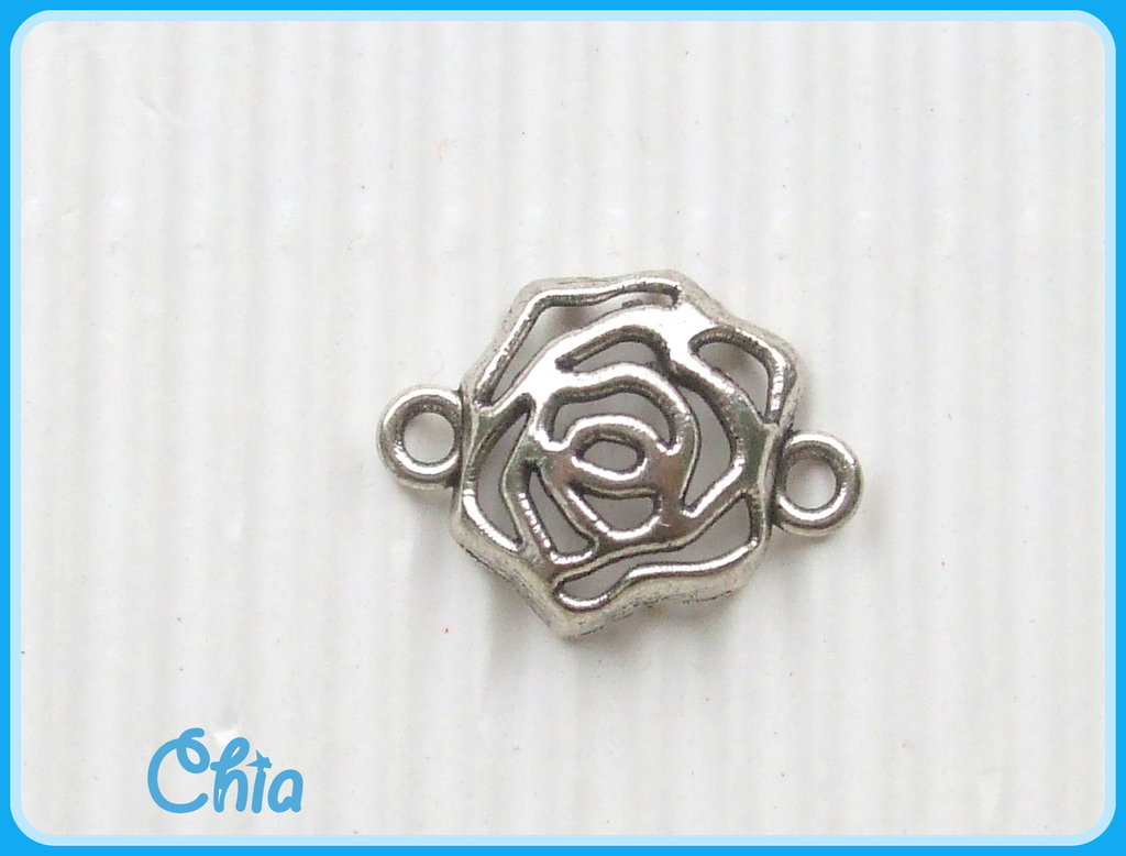 8 charms link rosa connettori