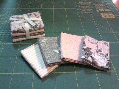 Pacchetto di tessuti americani rosa/grigio