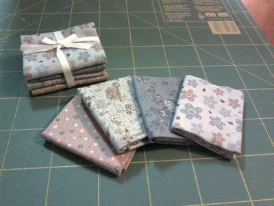 Pacchetto di tessuti americani blu/lilla