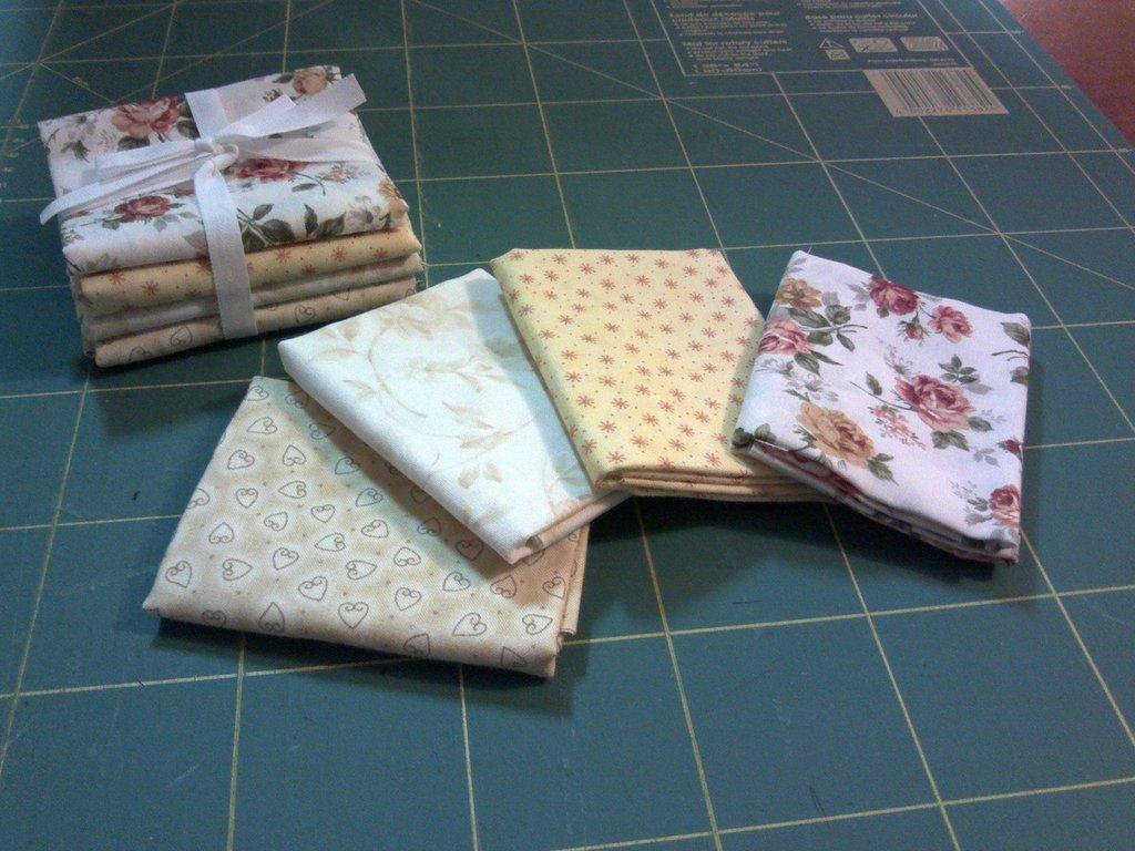 Pacchetto di tessuti americani beige/panna