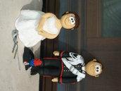 Cake Topper! La vostra copia in miniatura... Sposi sportivi, sposi in divisa, amici quattrozampe
