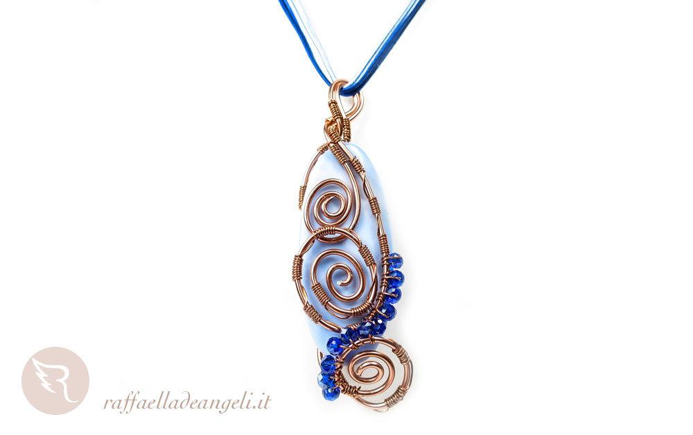 Collana agata azzurra Lucia 03