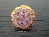 Anello con bottone gioiello vintage vera murrina veneziana