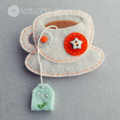 Tazzina di Tè con pois e stelline