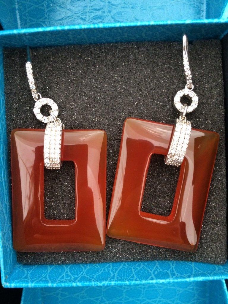 Orecchini Pietre e Argento Zirconato 925