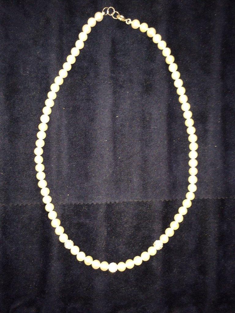 Collana perle vere montatura argento 925