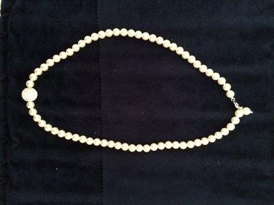 Collana perle vere montatura argento 925 con sfera zirconata