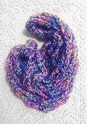 Sciarpa lana *Arcobaleno* realizzata a mano