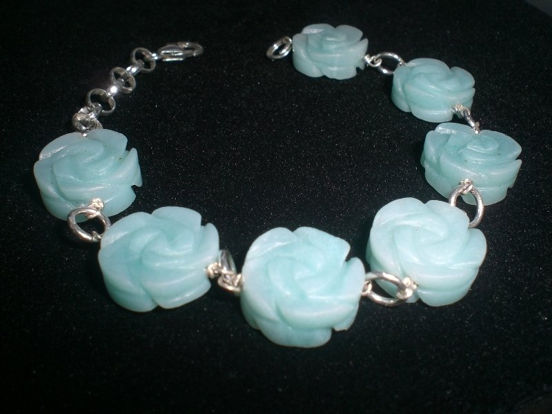 Cod. 0025 - Bracciale Rose Amazonite