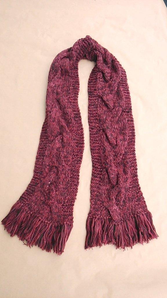 Sciarpa invernale morbida rosso mattone