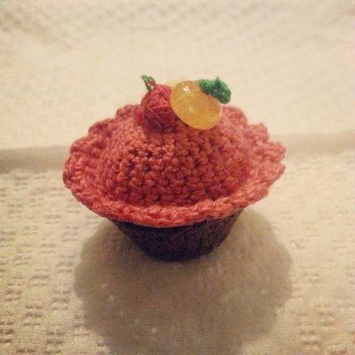 Cupcake amigurumi bombobiera