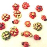 6 CIONDOLI  a scelta CUORE cuoricino - CUORE CON ALI - portafortuna charms- antichizzati, foglio oro  - idea regalo, natale - fiori, cuori, quadrifoglio, coccinelle
