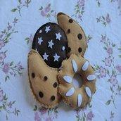 Biscotti Pan di Stelle, Gocciole e Bucaneve in feltro