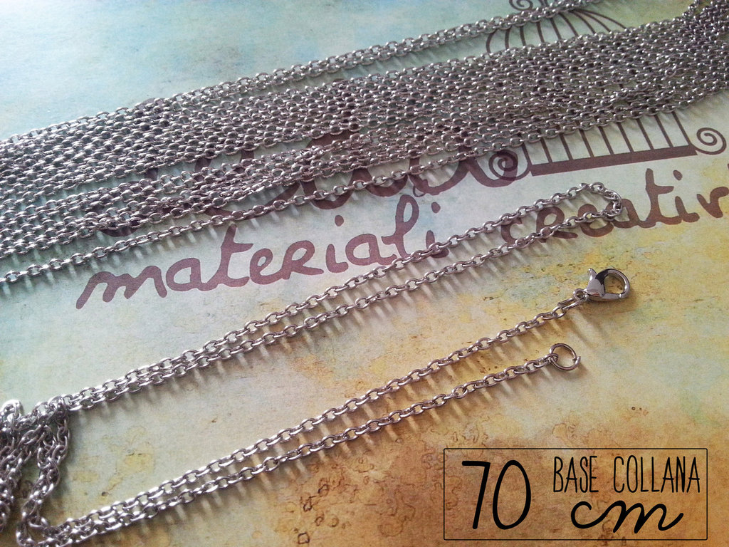 Base collana argento 70cm